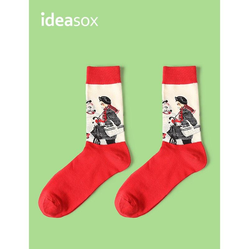 VVQI Novelty Famous Oil Painting Art Socks hip hop colorful socks style funy crew streets lovers socks Van gogh funny socks men