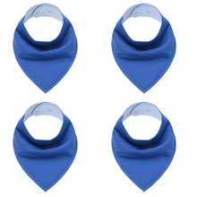 Convenient Bandana Shaped Eco-Friendly Cotton Bibs 4 Pcs Set