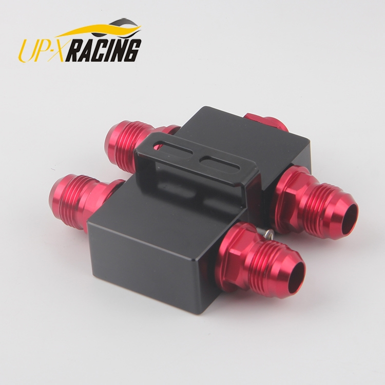 auto engine oil cooler oil Sandwich Adaptor With In Line Oil Thermostat AN10 fitting Oil Sandwich Adapter sw-08