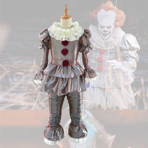 Image 4 - Clown cosplay Stephen Kings It Pennywise Cosplay Costume Adult men women Fancy Halloween horror costume Men adult mask