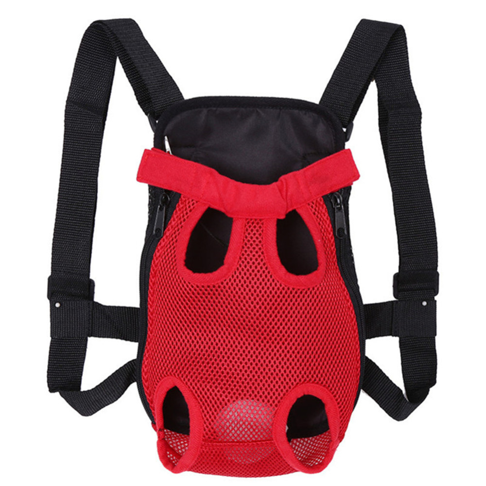 Pet Dog Carrier Back Pack Breathable Net Travel Dog Backpack Five Holes Pet Bags Shoulder Pets Puppy Carrier New Arrival