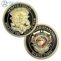 50/100pcs/lot New Arrival Souvenir Coins Semper Fidelis Release the Dogs of War US Marine Corps USMC Devil Dogs Challenge Coin