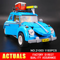 New LEPIN 21003 Creator Series City Car Beetle model Building  Blocks Compatible10252  Blue Technic children toy gift