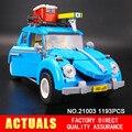 Nueva LEPIN 21003 Creador Serie Escarabajo modelo de Coche de La Ciudad Bloques de Construcción Técnica Compatible10252 Azul niños de juguete de regalo
