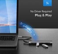 ugreen кабель USB концентратора с USB-С до 3, 0 концентратор HDMI и Thunderbolt в 3 адаптер для MacBook для samsung Галактики С9 Хуавей Р20 коврики 20 про тип с USB-концентратор