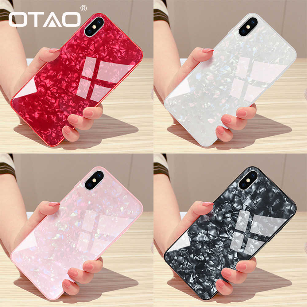 OTAO Fashion Shell Phone Case For Huawei P20 P10 Lite Pro Mate 10 Cases Shockproof Tempered Glass Back Cover For Honor 10 9 Caqa