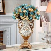 European resin vase decoration, living room flower arrangement, retro creative home table decoration