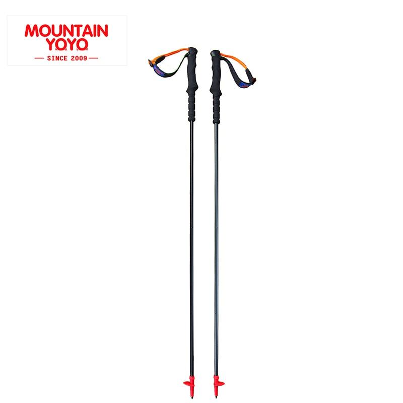 ФОТО MOUNTAIN YOYO NEW ARRIVE 4-Section Walking Stick Trekking hiking cane Nordic Walking Poles Climbing#Mnotaoguan