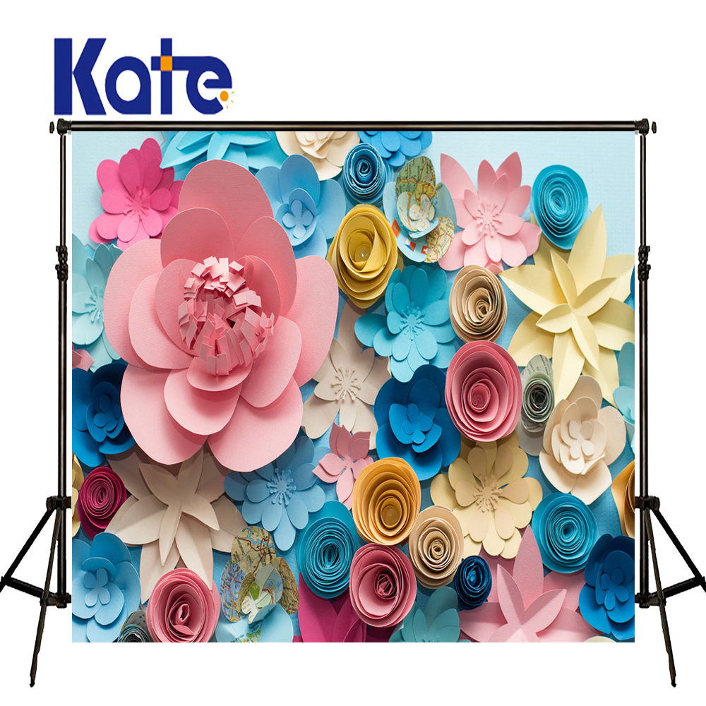 KATE Photography Background 3D Paper Flower Backdrops Children Tapestry for Home Newborn Daily Background for Photocall Birthday kate newborn birthday photography
