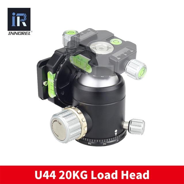 INNOREL U44 Camera Monopod tripod head 20kg load 44mm panoramic ball head 720 degree for DSLR