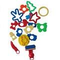 18 pçs/set Kit de Ferramentas Plasticina Molde Lama Animal Areia Molde Conjunto Argila Do Polímero Plasticina Brinquedos Inteligentes Para Crianças Cor de impressão