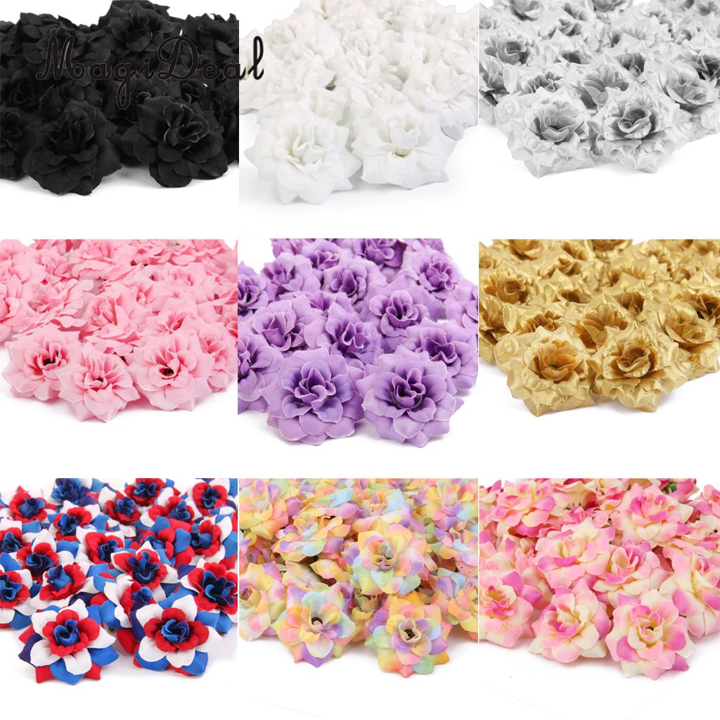 Artificial Flower Wedding Centerpieces: 50Pieces Artificial Flower Heads,Roses Bulk Bridal Shower