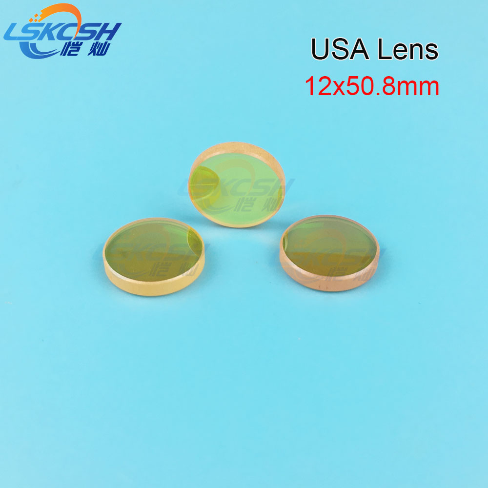 LSKCSH USA CVD ZnSe focus Lens Dia, 12mm FL 50.8mm 2'' for Co2 laser stamp engraving machines K40 40W 300*200mm wholesale 28mm usa znse focus lens for co2 laser 127mm focal length co2 laser lens