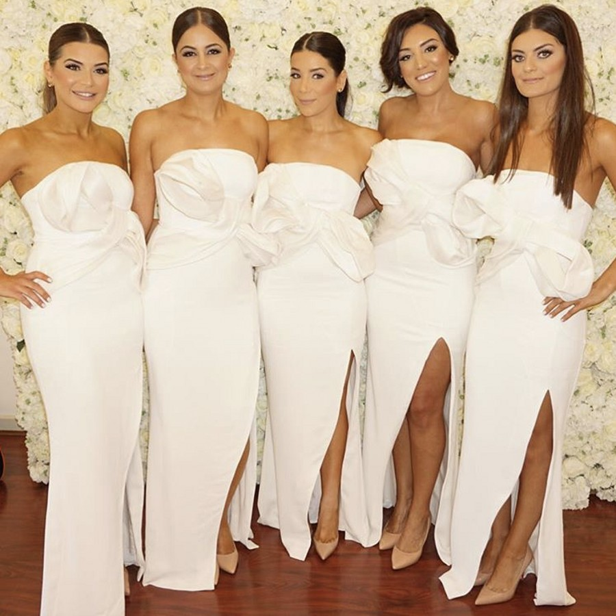 Online get cheap navy and peach dress aliexpress alibaba group 2017 new scoop mermaid white bridesmaid gown navy bluepeachivorychampagnesilver satin lace bridesmaid dresses fast shipping ombrellifo Image collections