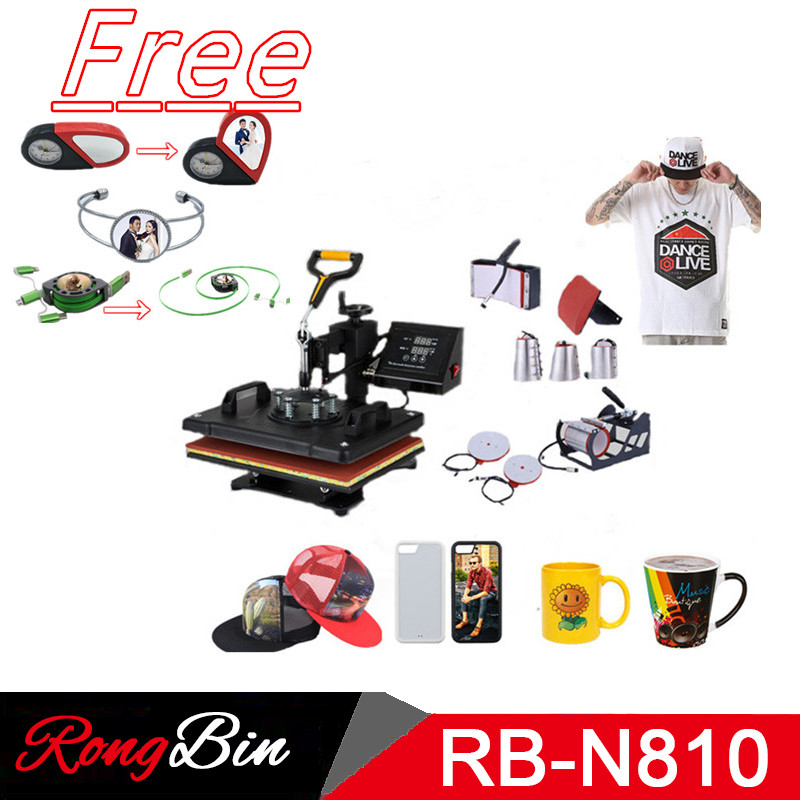 Double Display 8 In 1 Combo Heat Press Machine Sublimation Heat Press Swing Away Heat Transfer Machine Phone Case Mug Cup Plate newest condition 8 in 1 combo heat press machine sublimation heat press heat transfer machine t shirt mug hat cap plate