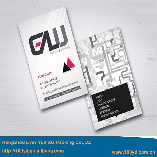 Vertikale Design Hochwertige Kunst Papier Visitenkarten