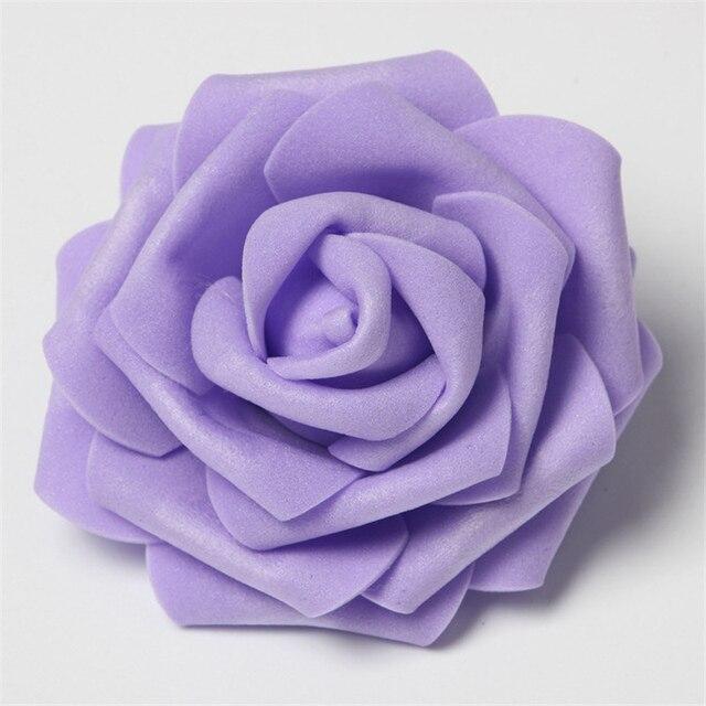 30 pz/lotto 8 centimetri Grande di Gomma Piuma del PE Rose Fiore Artificiale Tes