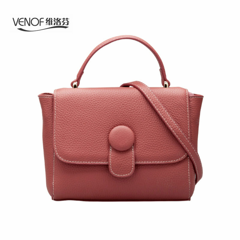 VENOF luxury women handbags Fashion genuine leather ladies Shoulder Bag simple Crossbody Bag Casual messenger bags bolsa female genuine leather bags ladies real leather bags fashion vintage women handbags casual chain shoulder bag female fashion bolsa 2017