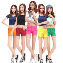 Women Large Size Shorts 2019 Summer Fashion New Was Thin Slim Temperament Casual Candy Color Female Sexy Mini yh29