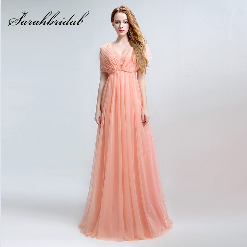 Cheap Hot Pleat Sweetheart   Bridesmaid     Dresses   Chiffon Coral A-Line Sleeveless Maxi Wedding Party   Dress   Changeable Prom Gowns