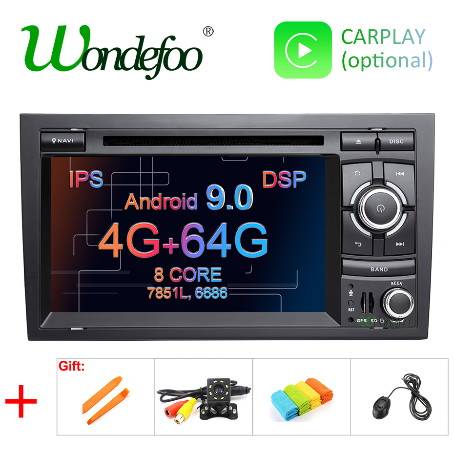 DSP 4G 64G Android 9 0 IPS Car DVD PLAYER For AUDI A4 GPS IPS stereo