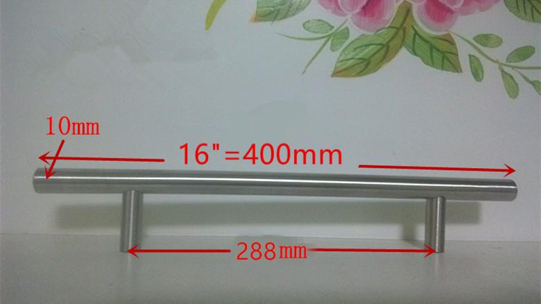 "диаметр 10 мм нержавеющая сталь кухня двери шкафа т бар ручку тянуть ручку 2 ""~ 24"