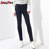 Velvet Jeans Femme Plus Size High Waist Thick Warm Jeans For Women Winter Denim Pantalon Taille