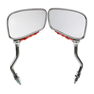 Image 2 - 2 Pcs/Pair Motorcycle Mirror Scooter E Bike Rearview Mirrors Electrombile Back Side Convex Mirror 8mm To 10mm 10.5cm x 7cm