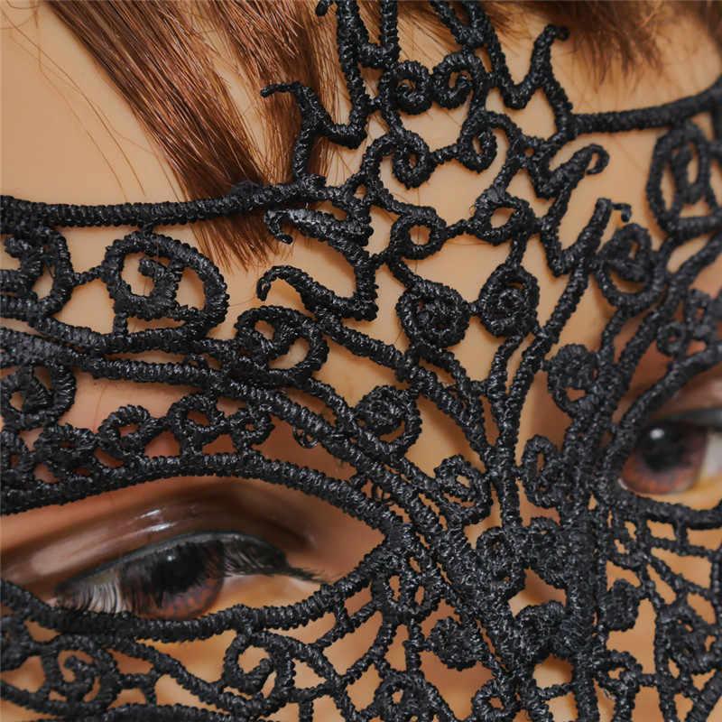 1 PC מסכת שועל שחור סקסי תחרת מסכת תגזיר מסכת עיניים למסיבת תחפושות ליל כל הקדושים תחפושת תלבושות