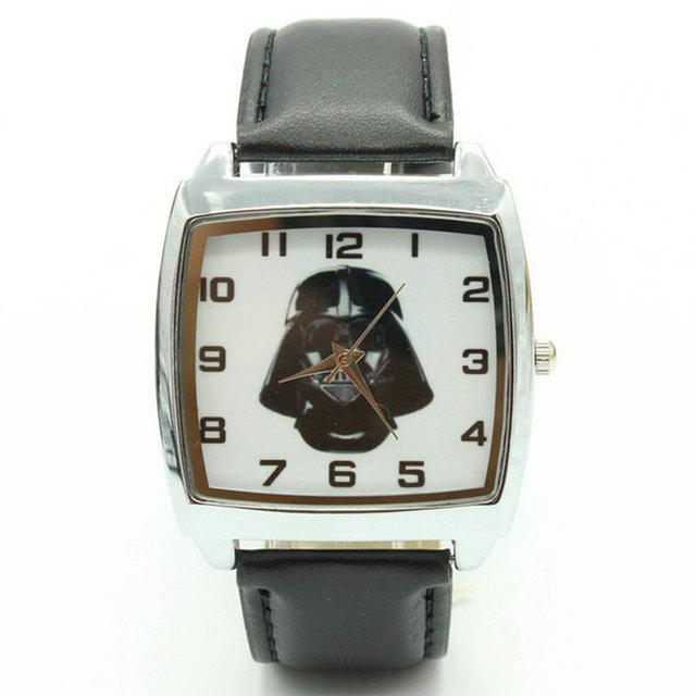 2018 Free Shipping Wholesale Star Wars Darth Vader Fashion Wrist square Watch