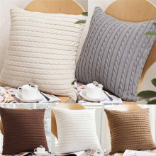 Удобные вязаные модные квадратные наволочки для подушек супер сильная текстура шерстяной ткани#30