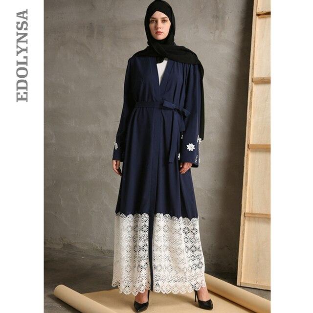 11dcd2a048d Musulman 2019 marque de mode Robe Abaya Vintage caftan Robe Maxi robes  décontracté grande taille Robe