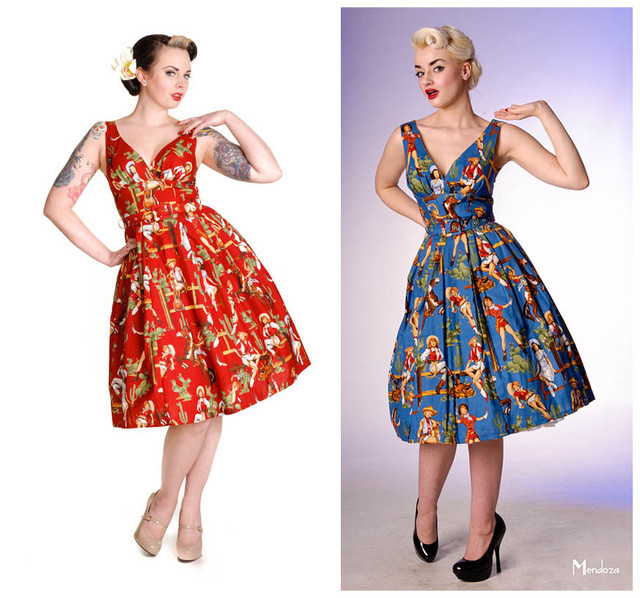 summer women vintage 1950s pinup cowgirl print v neck swing pleat dress  rockabilly dresses plus size 4xl vestidos jurken robe 3478c63fcb74