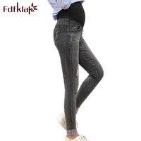 Fdfkalk Pregnancy Clothes Jeans 2018 Spring Autumn Slim Maternity Denim Pants For Pregnant Women Maternity Pants M XXL F80