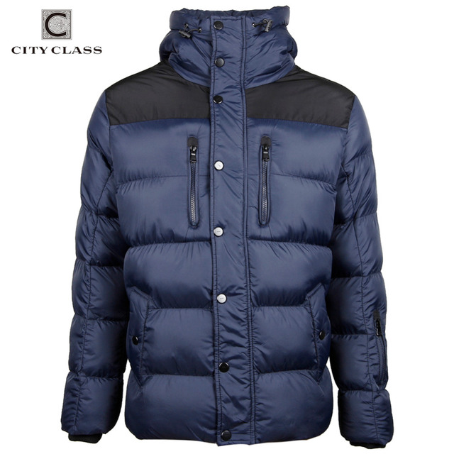 City Class 2016 New Winter Jacket Thick Warm Men's Overcoat Casual Cotton-padded Hooded Male Outerwear Free Shipping 2678