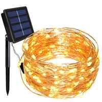 Solar String Lights 20M 200 LED Copper Wire String Fairy Lights Waterproof Christmas Solar Power Lamp For Garden Decoration