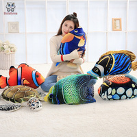 BOLAFYNIA monde Sous-Marin Mer tortue poissons Tropicaux Enfants en peluche jouet en peluche bébé enfants jouet pour cadeau d'anniversaire De Noël