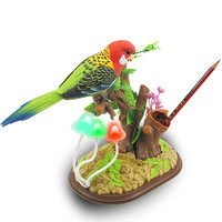 3D Gags Jokes Toy Voice activated Bird Children's Toy Electric Bird Simulation Can Dancing and Singing Parrots Decoration Art