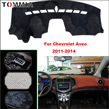 Tommia Car Dashboard Cover Mat Light Avoid Pad Photophobism Anti-slip protection Mat For Chevrolet Aveo 2011-2014