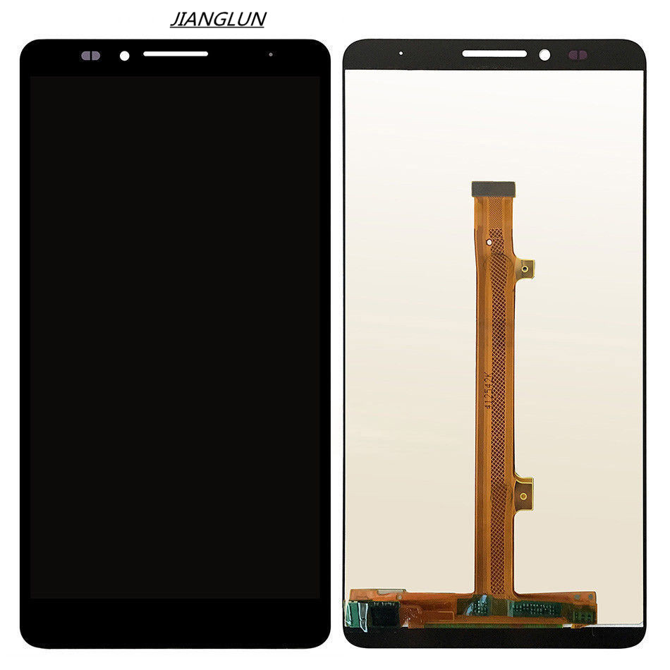 JIANGLUN For Huawei Ascend Mate 7 LCD Display Touch Screen Digitizer Glass Assembly for huawei mate 7 lcd display and touch screen with frame assembly black stock for huawei mate 7 smart phone free shipping
