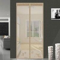 210cm High Quality Door Curtain Magic Hands Free Screen Door Mesh Summer Mosquito Net Curtain Polyester