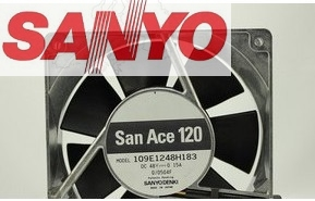 SANYO DC48V 12CM 120mm DC cooling fan 109E1248H183 12038 0.15A server fan original delta afc1212de 12038 12cm 120mm dc 12v 1 6a pwm ball fan thermostat inverter server cooling fan