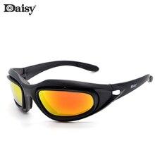Daisy Tactical Glasses Military Goggles Army Sunglasses With 4 Lens Original Box Men Shooting Eyewear Gafas de sol C5