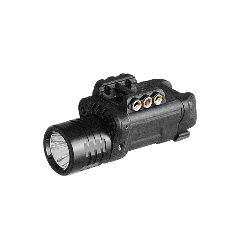 Drop shipping Pistol Rifle dual aiming green laser and red laser sight with tactical flashlight combo