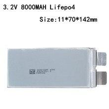 Lot de 6 batteries Lifepo4, rechargeables, 3.2v, 8000 mah, 8ah, 30a, sans li-ion, 8000 Mah, pour bricolage