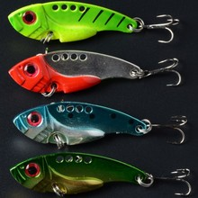 vibration bait 20pcs fishing lure metal trolling spoon wholesale jig fishing bait 5.5CM 11G 8# hooks hard bait metal blade lures
