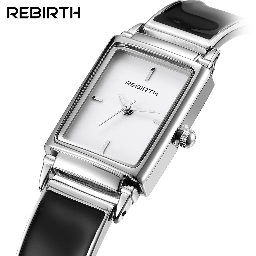 REBIRTH Fashion Women Dress Watch Luxury Brand Quartz Lady Stainless Steel Bracelet Watch Casual Clock Montre Femme Reloj Mujer luxury brand rebirth fashion quartz watch women ladies stainless steel bracelet watches casual clock female dress gift relogio