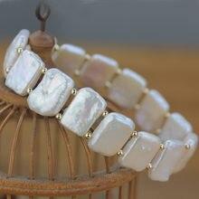 Ljhmy двухслойные бусины натуральный белый пресноводный жемчужный