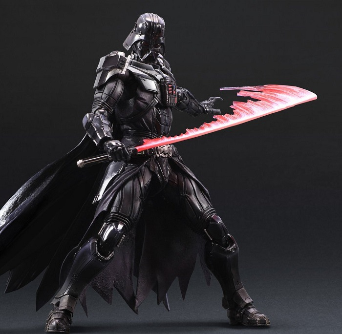 Hot ! NEW 1PCS 28cm Star Wars 7: The Force Awakens Darth Vader Enhanced version action figure toys Christmas toy