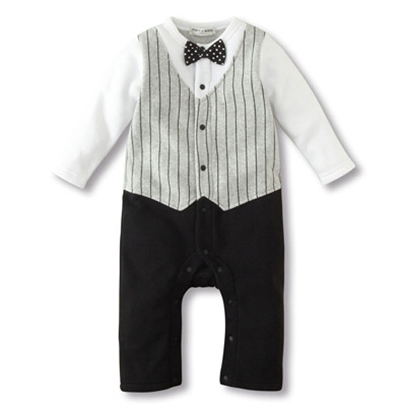 Baby Autumn Clothing  Fashion Newborn Baby Rompers Clothing Baby Boys Clothes Tie Gentleman Bow Toddler 2 Pcs Set Jumpsuit cotton baby rompers set newborn clothes baby clothing boys girls cartoon jumpsuits long sleeve overalls coveralls autumn winter